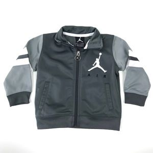 Baby Boy's Jordan Gray Full Zip Jacket 12M